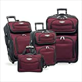 Travel Select Amsterdam 4-piece Luggage Set , Color Red (TS-6950), Bags Central
