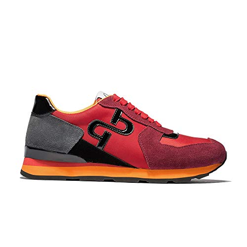 OPP Men's Fashion Leather Sports Sneaker Lace-up Rubber Soft Sole Casual Shoes (9.5 D(M) US, Red OC173186)