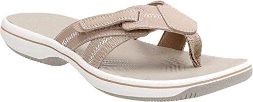 Sand Sandal Thong Brinkley Clarks Women Calm Tan Synthetic Toe Open 7FzB4Fqw