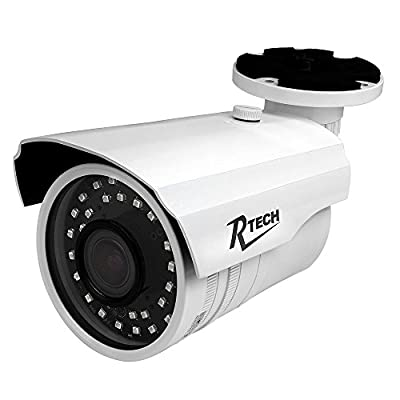 R-Tech CA-IR140-HD 1000TVL Outdoor Bullet Security Camera with SMD High-Intensity IR LEDs for Night Vision and 2.8-12mm Varifocal Lens from BV USA