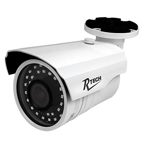 Tvl Bullet Camera - R-Tech CA-IR140-HD 1000TVL Outdoor Bullet Security Camera with New Style SMD High-Intensity IR LEDs for Night Vision and 2.8-12mm Varifocal Lens