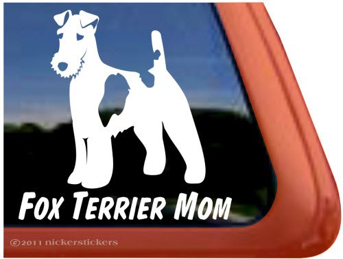 Fox Terrier Mom ~ Wirehair Fox Terrier Dog Vinyl Window (Wirehair Fox)