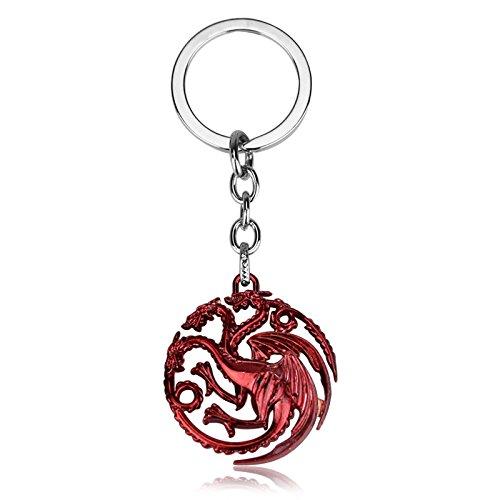 snaked cat Classic Song of Ice e Fire Game of Thrones Portachiavi Car Key Chain di Fashion Metal Ciondolo Portachiavi per i Fan
