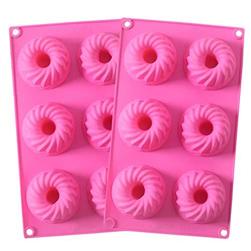 SUNSK Siliconen Cakevormen 3D Gugelhupf-vorm Taartvormen Spiraal Bakblikken Silicone Vorm Cakevorm 2 stuks