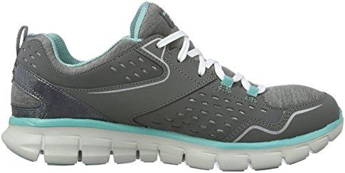 Skechers Synergie Moderne Beweging Damessneakers Houtskool / Aqua 10