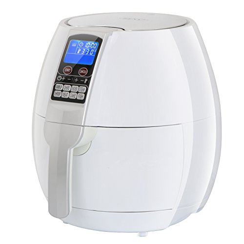 (ZENY 8-in-1 3.7 Quart Programmable Electric Air Fryer, 1500W LCD Display Screen Control Kitchen Cooker w/ 8 Cooking Settings, Auto Shut off & Timer (White))