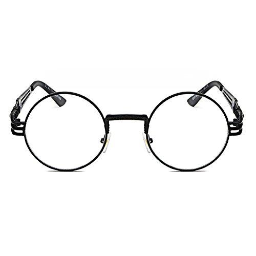 Vintage Punk Gafas Sunglasses C4 Hombres juqilu HipHop Mujeres Classic Steampunk sol Metal de FxgnRq4t