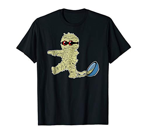Asian Creepy Mummy Ramen Life T-Shirt Noodles Soup -