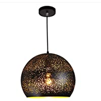 Ceiling Light Fixture Vintage Retro Industrial Metal Black Gold Pendant Lamp Ceiling Light for Kitchen Lighting Dining…