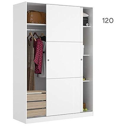 HABITMOBEL Armario Dormitorio 120 con CAJONERA 2 Puertas ...