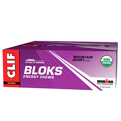 CLIF BLOKS – Energy Chews – Mountain Berry – No Caffeine (2.1 Ounce Packet, 18 Count)