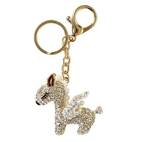 Pony White Key Ring - 5