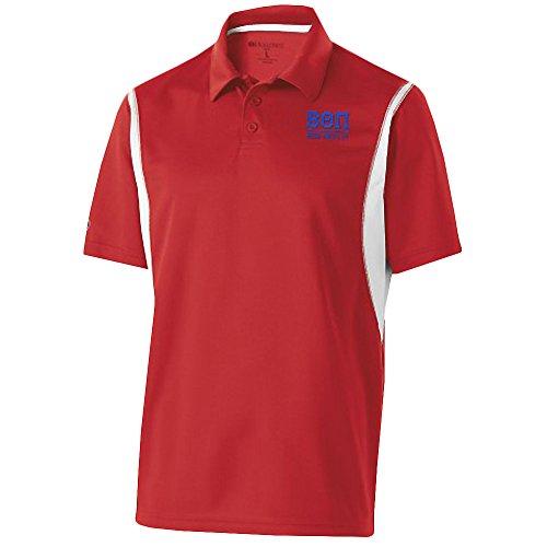 Express Design Group Beta Theta PI Fraternity Integrate Polo Large Scarlet/White -