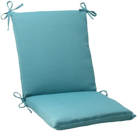 Pillow Perfect Outdoor Indoor Forsyth Pool Square Corner Chair Cushion, 36.5 x 18 , Turquoise