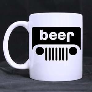 Fashion Style beer jeep Excellent White Mug Ceramic Material Mug