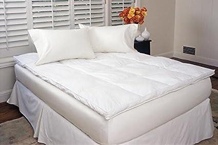 Amazon.com: Down Alternative Baffled Box Fiber Bed White / Eastern ...