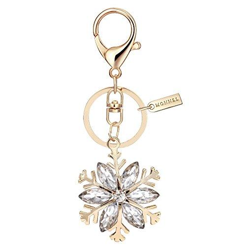 Bling Clear Rhinestone Snowflake Keychain Creative Packaging Box - Keychain Snowflake