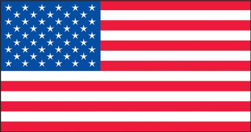 Accuform Signs LHTL671 Reflective Adhesive Vinyl Flag Helmet Sticker, AMERICAN FLAG, 1'' Length x 1-3/4'' Width, Red/White/Blue (Pack of 5) by Accuform Signs