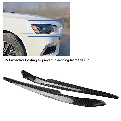 Remix Custom for 99-00 Honda Civic Headlights Cover Black Eyebrow Eyelids
