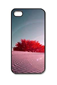 Iphone 4 4s PC Hard Shell Case Pink Desert Black Skin by Sallylotus