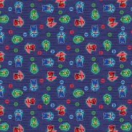 PJ Masks Fabric, PJ Masks Toss, Fabric by the Yard, Licensed Fabric,