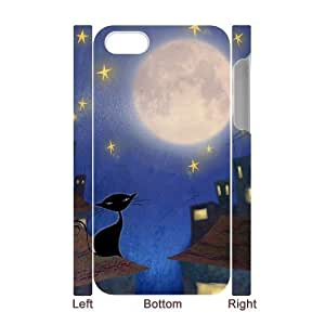 Customized Durable Case for iPhone 6 4.7 3D, Cat, Sun and Moon Phone Case - HL- 6 4.706791