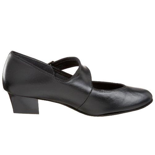 Tic-tac-tenen Vrouwen Swing Dans Schoen Zwart