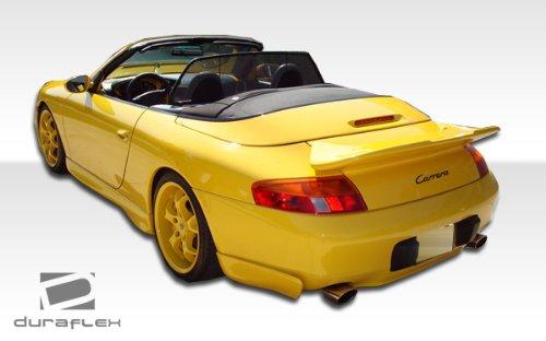 Duraflex Replacement for 1999-2001 Porsche 911 Carrera 996 GT-3 Look Rear Add On Bumper Extensions (non turbo) - 2 Piece ()