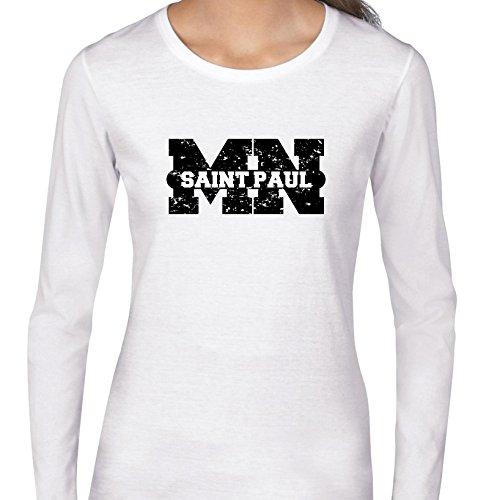 Saint Paul, Minnesota MN Classic City State Sign Women's Long Sleeve T-Shirt]()