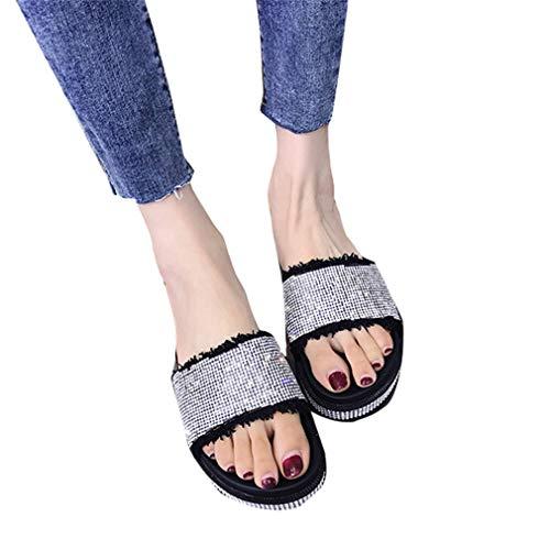 Black YUCH pour De Chaussures Plage Femmes 6qATZ