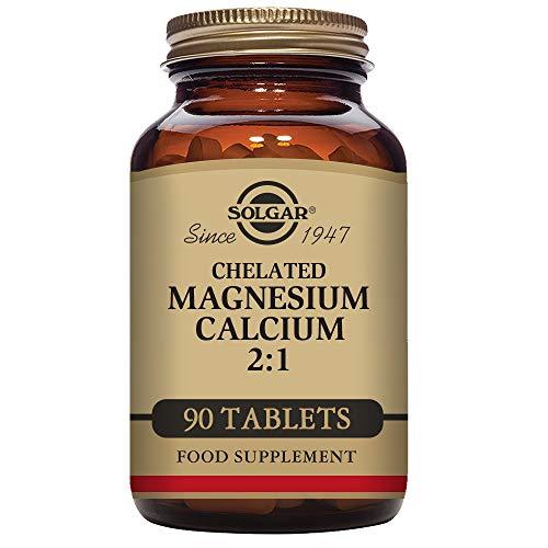 Calcium Tabs Chelated (Solgar – Chelated Magnesium Calcium 2:1, 90 Tablets)