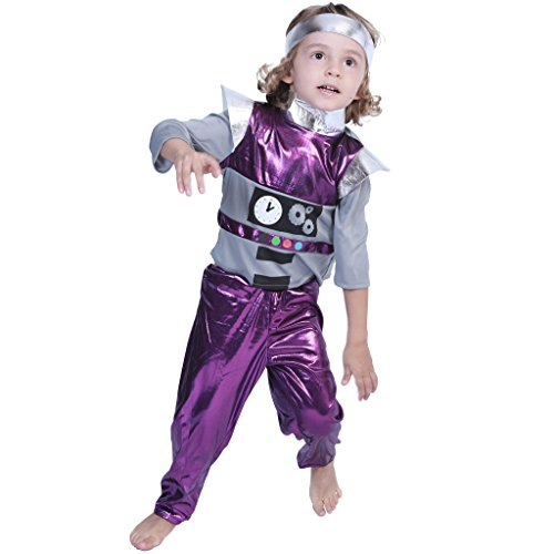 EraSpooky Kids Space Wizard Robot Alien Artificial Costume