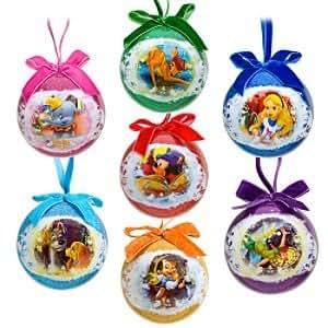 Amazon.com: World of Disney Decoupage Ornament Set -- 7-Pc