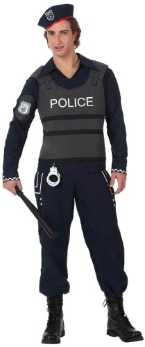 Atosa-10279 Disfraz Policía, color negro, ML (10279)