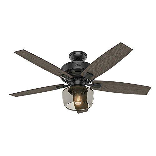Hunter Fan Company 54187 Bennett Ceiling Fan, Large, Matte Black Hunter Fan Globe