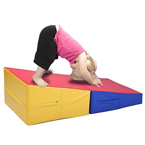 Ramp Mat (JAXPETY Large Folding Gymnastics Incline Mat Wedge Ramp Skill Shape Triangle Tumbling Mats)