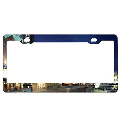 YEX Abstract Boardwalk Casinos at Atlantic City License Plate Frame Car License Plate Covers Auto Tag Holder 6