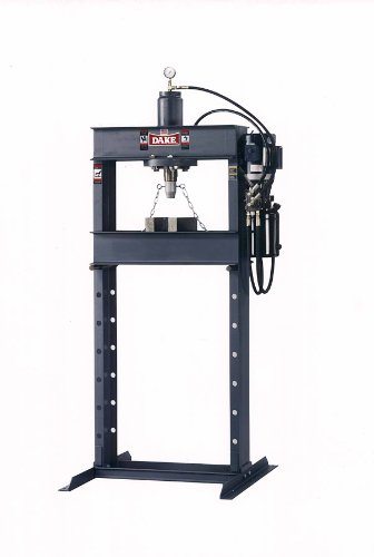 Dake Force 25DA Model Electrically Operated Hydraulic Dura Press, 25 Ton Capacity, 110V, 1 Phase, 30'' Length x 38'' Width x 88'' Height by Dake