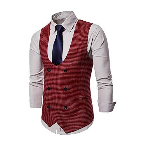 Gilet Wedding Slim Blazer Business Taglia Dimensione Casual colore Uomo Colletto Gilet Vest Rosso 3xl colore 2xl Fit Fuweiencore Da U Verde Groom dqzd8