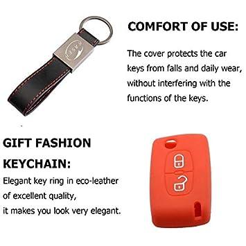 Rosso Cover Guscio Chiave Silicone per Peugeot 207 307 407 308 Citroen C1 C2 C3 C4 3 Tasti Portachiavi Custodia Morbido Protezione Telecomando Auto