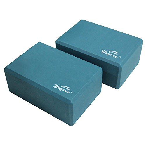 Review Yogree (2-PC) Yoga Blocks, 9″x6″x4″ – High Density EVA Foam Brick Provides Stability Balance & Support, Improve Strength and Deepen Poses – Great for Yoga, Pilates, Workout, Fitness & Gym (Turquoise)