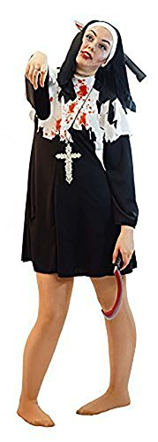Sister Act Halloween Costume (Stage-Halloween-Horror-Zombies-Fancy Dress NEW! BLACK ZOMBIE NUN - Ladies Sizes 10-36 (LADIES 12))
