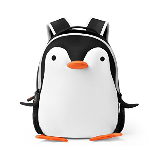 (Deer Mum Kids Children Cute Cartoon Animal Schoolbag Toddler Backpack Neoprene Backpack (penguin))