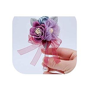 Groom Wedding Corsage Artificial Flower Boutonniere Men Buttonhole Men's Brooch Flowers Boutonniere Hombres Ramillete 28