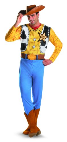 Woody Halloween Costume (Disguise Men's Disney Pixar Toy Story and Beyond Woody Classic Costume, Yellow/Black/White/Brown, X-Large)