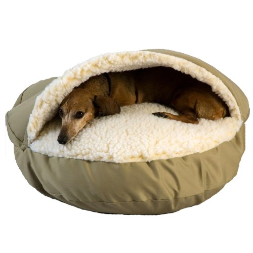 Cheap Snoozer Cozy Cave, Khaki, X-Large