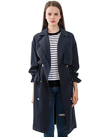 Amazon.com: PRETTIGO Trench Coat Belt Walking Coat Coat