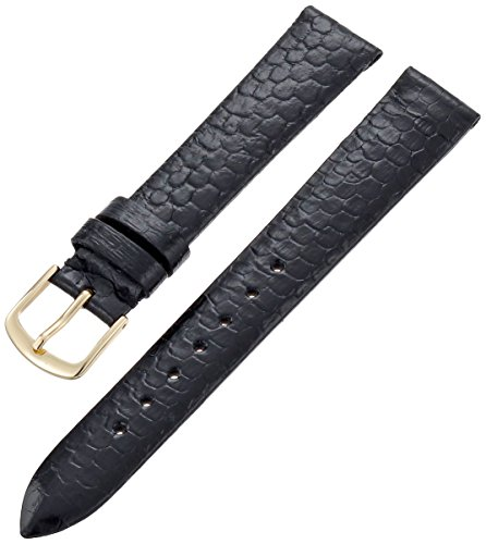 Hadley-Roma Men's MSM705RA-160 16-mm Black Genuine Water Snakeskin Leather Watch Strap