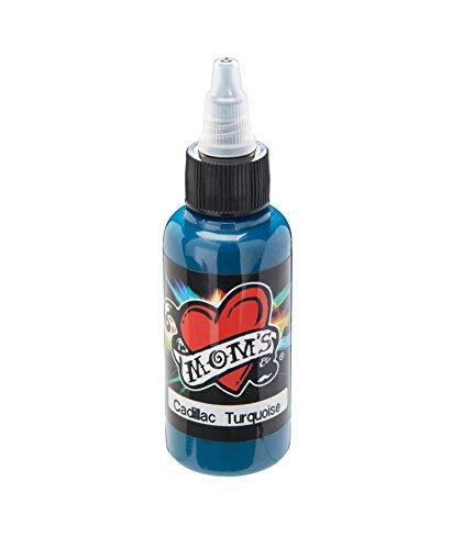 CADILLAC TURQUOISE Millennium Moms 1 oz Bottle Dark Tattoo Ink Mom's Brand 30ml
