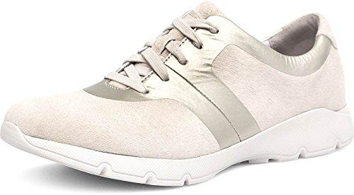 Dansko Mujeres Andi Sneaker Ivory / Gold Suede